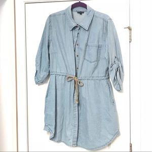 Dresses & Skirts - Denim Dress with rope belt